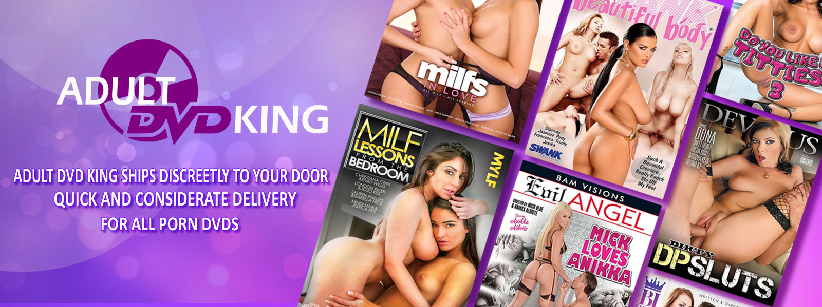 Adult DVD King ships discreetly to your door - quick and considerate delivery for all porn dvds